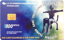 BOSNIA - 035 Collegium Artisticum Gallery - Statue - 200.000 - 2000 - Bosnia