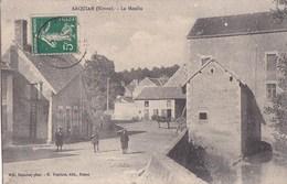 58 ARQUIAN  CPA Photo CANNIER  Coin Du VILLAGE ENFANTS Près Du MOULIN  ATTELAGE Cheval Timbre 1912 - France
