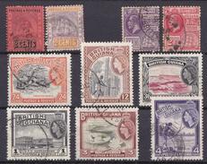 BRITS GUIANA - Restanten Lotje Van 10 Zegels (°) - Guyane Britannique (...-1966)
