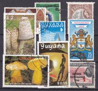 GUYANA  - Restanten Lotje Van 9 Zegels (°) - Guyane (1966-...)
