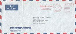 "United Arab Emirates UAE 1986 Dubai Standard Chartered Bank Meter Postalia ""D2/D3"" PA 36 Cover - Verenigde Arabische Emiraten"