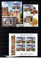 2017  Europa CEPT - Castles  2v+S/S + BOOKLET  – Used/oblitere (O) Bulgaria/Bulgarie - Bulgaria