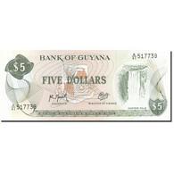 Guyana, 5 Dollars, 1966, 1992, KM:22f, NEUF - Guyana