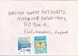 United Arab Emirates UAE 1989 Ras Al Khainah Port Harbour Postal Day Cover - Verenigde Arabische Emiraten