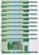 BELARUS 100 PУБЛЁЎ (RUBLES) 2000 (2011) P-26b UNC 10 PCS [BY126b] - Belarus