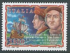 1998 - ITALIA - CRISTOFORO COLOMBO - AMERIGO VESPUCCI - CONGIUNTA CON IL VENEZUELA / JOINT WITH VENEZUELA. MNH - Emissioni Congiunte