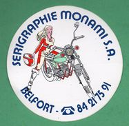 SERIGRAPHIE MONAMI BELFORT - MOTO  /  AUTOCOLLANT - Autocollants