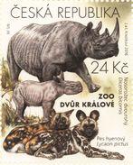 896 Czech Republic Nature Protection: Zoological Gardens I -rhino And African Wild Dog 2016 - Rhinozerosse