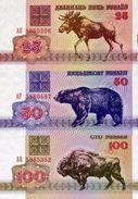 BELARUS 25 50 100 PУБЛЁЎ (RUBLES) 1992 P-6a-8a UNC [BY106a-108a] - Belarus