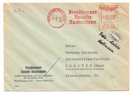 """EMA """"STRASSBURGER NEUESTE NACHRICHTEN"""" - STRASBOURG - Alsace - Bas-Rhin - Deutsches Reich - 1942 - Alsace-Lorraine"""
