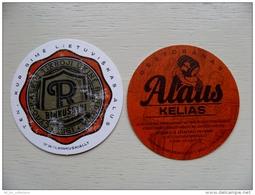 Bier Beer Costaer From Lithuania Rinkuskiai Brewery Alaus Kelias Restaurant, Conditio Is Perfect! - Sous-bocks