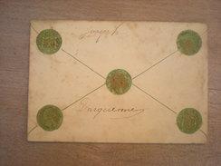 Cpa Représentation De Pièces De Monnaies, Cachet De Courcelles 1908, Timbre (i2) - Monnaies (représentations)
