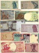 INDONESIA COLLECTION OF 10 DIFFERENT UNC PCS - Indonesia