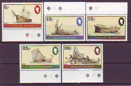 FALKLAND ISLANDS 341-345,unused,ships - Falkland Islands
