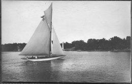 1912 Sweden Stockholm Olympics Official Postcard No 298 Swedish Sailing 'Nina' - Olympic Games