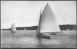 1912 Sweden Stockholm Olympics Official Postcard No 304 Swedish Sailing 'Wanda' - Giochi Olimpici