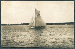 1912 Sweden Stockholm Olympics Official Postcard No 310 Norway Sailing 'Magda 9' - Olympic Games