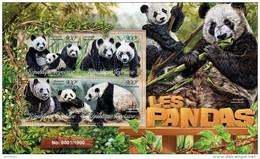 TOGO 2016 - Pandas. Official Issue. - Postzegels