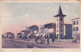 CPA CROS DE CAGNES. LE BOULEVARD DE LA PLAGE - France