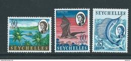 Seychelles 1967 Island Definitives Later Issue 30c / 65c / 85c MNH - Seychelles (...-1976)