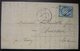 1873 Saint Dizier (Haute Marne) Compagnie De Transports Avec En Tête Et Vignette Au Dos - Marcophilie (Lettres)