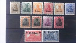 Belgique Timbres De L'occupation: Territoire Des étapes . Timbres D'Allemagne 1905-11. Numéro OC26/37 * - Guerre 14-18