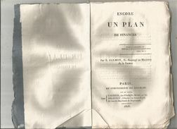 Décrets & Lois , ENCORE UN PLAN DE FINANCES , Par L. Salmon  , 1818 , 60 Pages , Frais Fr : 2.70 Euros - Décrets & Lois