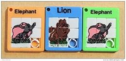 Taquin - Pousse Pousse -  Mini - Lot De 3 - Elephant - Lion - Elephant - Brain Teasers, Brain Games