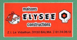 MAISONS ELYSEE CONSTRUCTIONS 31130 BALMA /  AUTOCOLLANT - Autocollants