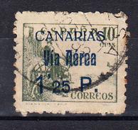 ESPAÑA 1937.CANARIAS.SELLOS  NACIONALES HABILITADOS.EDIFIL Nº 46 USADO  CECI 2.34 - Emissions Nationalistes