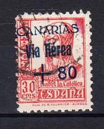 ESPAÑA 1937.CANARIAS.SELLOS  NACIONALES HABILITADOS.EDIFIL Nº 40 USADO  CECI 2.34 - Emissions Nationalistes