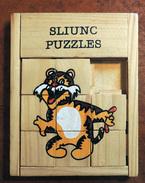 Taquin - Pousse Pousse -  Sliunc Puzzles - Tigre - Bois - Brain Teasers, Brain Games