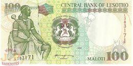 LESOTHO 100 MALOTI 2001 PICK 19b UNC - Lesotho