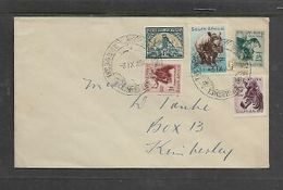 S.Africa: Domestic Cover, 5 Colour Franking KIMBERLEY THE  BIG HOLE  3 IX 57 Special C.d.s. - South Africa (...-1961)