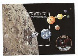 1999 Tokelau Space Moon Landing  Complete Set Of 6 + Souvenir Sheet  MNH - Espace