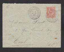 FRANCE / 1902 / Y&T N° 125 : Mouchon Retouché 15c Vermillon - Sur Pli Du 08/03/1903 (MENIL LA TOUR Cachet Pointillé) - Postmark Collection (Covers)