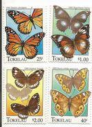 1995 Tokelau Butterflies Complete Set Of 4   MNH - Mariposas