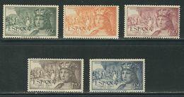 ESPAGNE N° PA 257 à 261 * - Unused Stamps