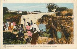 PIE 17.Des V-4969 : MAROC. FABRICATION DES TUILES VERTES POUR MOSQUEES - Maroc