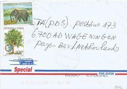 Congo 2005 Brazzaville Ouenze Elephant Medicinal Plant Moringa Cover - Congo - Brazzaville