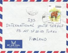 Congo 1995 Brazzaville Ouenze Antilope Bongo Cover - Congo - Brazzaville