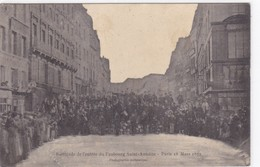 Paris - Barricade De L'entrée Du Faubourg Saint-Antoine - Paris 18 Mars 1871 - Francia
