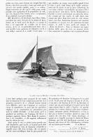 "NAVIGATION TERRESTRE  "" CHAR à VOILE ""    1902 - Transportation"