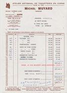 39 VAUX-LES-SAINT-CLAUDE MICHEL MUYARD ATELIER ARTISANAL DE TABLETTERIE EN CORNE - 1950 - ...