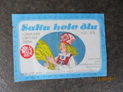 ESTONIA , BEER LABEL , ETHNIC GIRL FOLK COSTUME   , 00 - Bière