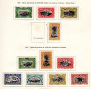1909-10  ,  Mols, Van Engelen, Paysages, éléphant, 50 / 53* + 54 / 60*, Cote 69 €, - Congo Belge