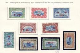 1918    Congo Belge 1918, Croix-Rouge, 72 / 77* Et 78 / 80 **, Cote 520 €, - Belgisch-Kongo