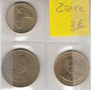 ZAIRE  3  Pièces Différentes - Zaire (1971-97)