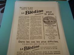 ANCIENNE PUBLICITE BLEDINE DE JACQUEMAIRE BEAU BEBE DE 1KG400 1930 - Posters