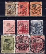 ET+ Ägypten 1922 Mi 69-71 73-75 77-78 81 Aufdruck - Ägypten